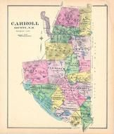 Carroll County, New Hampshire State Atlas 1892 Uncolored